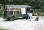 Photograph: 'Splinter' Van and Two People (1992)