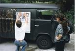Photograph: 'Splinter' Van With Poster (1992)