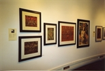 Photograph: Works by Murray Robertson at the Opening of Unique and Original Exhibition at the Barbican (1992)