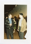 Photograph: Dominic Snyder at the Opening of 'Unique and Original' Exhibition (1992)