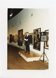 Photograph:  Richard Jobson at the Opening of 'Unique and Original' Exhibition (1992)