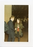 Photograph:  Richard Jobson and Woman at the Opening of 'Unique and Original' Exhibition (1992)