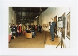 Photograph: Opening Presentation at the Opening of 'Unique and Original' Exhibition (1992)
