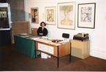 Photograph: Sales Desk for Unique and Original at the Barbican (1992)