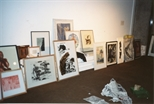 Photograph: A Selection of Works Being Installed at Unique and Original at the Barbican (1992)