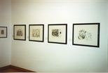 Photograph: Five Works Displayed at Peter Howson Bosnian Harvest Exhibition (1994)
