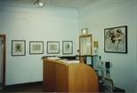 Photograph: Reception Desk at Bosnian Harvest Exhibition (1994)
