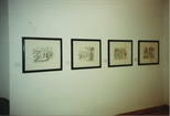 Photograph: Four Lithographs in Bosnian Harvest Exhibition (1994)