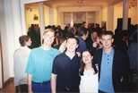 Photograph: Norman Mathieson, Jonathan Cassels, Janie Nicoll and Paul Cassidy at their group exhibition 'Terra Incognito' (1994)