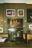 Photograph: Interior of festival shop in Edinburgh showing fireplace (1994/5)