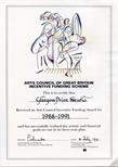 Arts Council Certificate