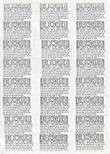 Sheet of advertising stickers for The Loveliest Night of the Year (1985)