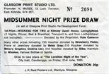 Midsummer Night Prize Draw Ticket (1985)