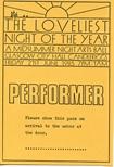 Loveliest Night of the Year Performer Pass (1985)