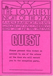 Loveliest Night of the Year Guest Pass (1985)