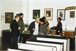 Photograph: Various people at the Red Ribbon Art Show and Auction (1995)