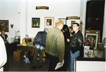 Photograph: The bar area of the Red Ribbon Art Show and Auction (1995)