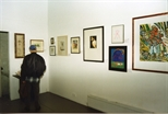 Photograph: Several prints at the Red Ribbon Art Show and Auction (1995)