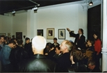 Photograph: The Red Ribbon Auction at Glasgow Print Studio (1995)