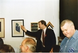 Photograph: The Auctioneer at the Red Ribbon Auction (1995)