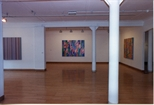 Photograph:3 works from Bridget Riley exhibition (1996)