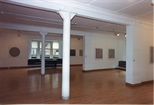 Photograph: Several Bridget Riley works from her exhibition (1996)