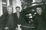 Photograph: Publicity photograph for exhibition 'Triple Vision' in Glasgow Print Studio workshop