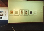 Photograph: Glasgow Print Studio Gallery during 'Photography in Printmaking' exhibition by Robert Paul and John Mackechnie (1983)