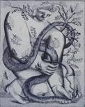 Untitled (Boy capturing snake)