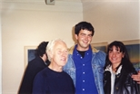 Photograph: John Taylor at the opening of his exhibition 'John Taylor - Walking on the Beach and Other Paintings' (1998)
