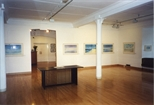 Photograph: Glasgow Print Studio Gallery during John Taylor exhibition 'John Taylor - Walking on the Beach and Other Paintings' (1998)