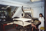 Photograph: The print workshop of Arts Acre in Calcutta (1998)