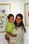 Photograph: A woman and her child in the Queens Gallery New Delhi (1998)