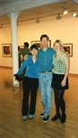 Photograph: Leona Stewart, Norman Mathieson and an unknown woman at the Hock Aun Teh exhibition (1997)