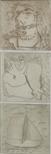 Untitled (Man, Angel & Boat triptych)