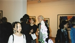 Photograph: Various people at the Hock Aun Teh exhibition in Glasgow Print Studio Gallery (1997)