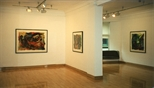 Photograph: 3 Hock Aun Teh prints in Glasgow Print Studio Gallery (1997)