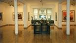 Photograph: Glasgow Print Studio Gallery during the Hock Aun Teh exhibition (1997)