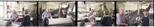 Colour negatives: 4 colour negatives of Elizabeth Blackadder and John Houston looking at prints in the Glasgow Print Studio workshop (1987)