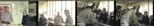 Colour negatives: 4 colour negatives of Elizabeth Blackadder and John Houston in both the Glasgow Print Studio gallery and workshop (1987)