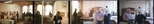 Colour negatives: 4 colour negatives of the opening of the Barbara Rae exhibition 'Monotypes' and of Elizabeth Blackadder and John Houston in the Glasgow Print Studio workshop (1987)