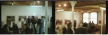 Colour negatives: 2 negatives of the opening of the Barbara Rae exhibition 'Monotypes' (1987)