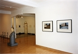 Photograph: Kenneth Hunter sculpture and other unknown works as part of 'Blueprints' exhibition (1997)
