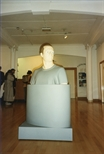 Photograph: Kenneth Hunter sculpture as part of the 'Blueprints' exhibition at Glasgow Print Studio (1997)