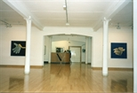 Photograph: Glasgow Print Studio Gallery and front desk during the exhibition 'Tim Mara - A Slightly Obsessional Printmaker' (1997)