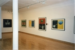 Photograph: 5 Tim Mara prints in the Glasgow Print Studio Gallery during the exhibition 'Tim Mara - A Slightly Obsessional Printmaker' (1997)