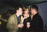 Photograph: Katherine Shaw and Murray Robertson at a social gathering (1997)