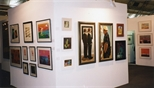 Photograph: Glasgow Print Studio's stand at 'Art 97 London' (1997)