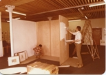 Photograph: Setting up an exhibition in the Ingram Street Gallery