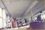 Photograph: Anda Paterson in the Workshop